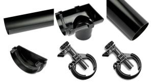 Contents of Rainsaver Gutter Kit for Sheds