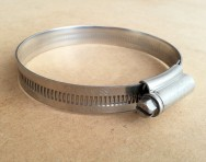 Jubilee Clip Stainless Steel Size 3XSS 60-80mm for 70mm flex pipe