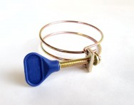 56-60mm Double Wire Butterfly Hose Clamp