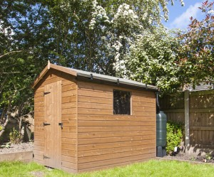 Shed Guttering Kit in Spring
